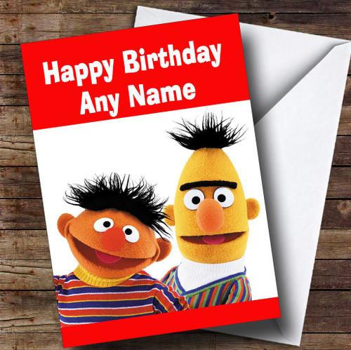 Bert And Ernie Personalised Children's Birthday Card