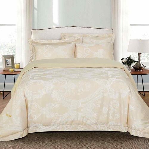 dm503q dolce mela bedding regal luxury jacquard queen size duvet cover set