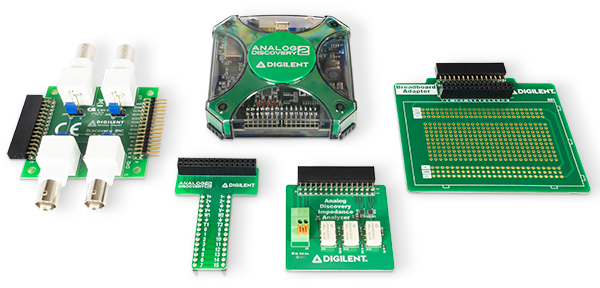 Analog Discovery 2 among compatible add-on boards