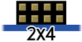 2x4 Pmod Pinout button