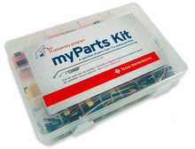 Product image of the myParts Kit from Texas Instruments. Digilent retains the right to change a part or product to a similar item to meet lead time, cost, and MOQ requirements.