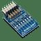 Pmod 8LD: Eight High-brightness LEDs product image.