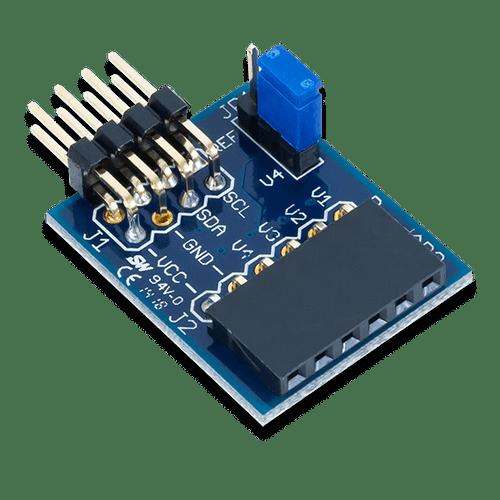 Pmod AD2: 4-channel 12-bit A/D Converter product image.