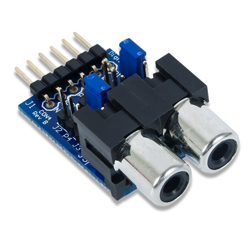 Pmod CON4: RCA Audio Jacks product image.