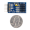 Size comparison product image of the Pmod LS1: Infrared Light Detector and a US quarter (diameter of quarter: 0.955 inches [24.26 mm]; width: 0.069 inches [1.75 mm]).