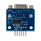 Bottom view product image of the Pmod RS232: Serial Converter and Interface Standard.