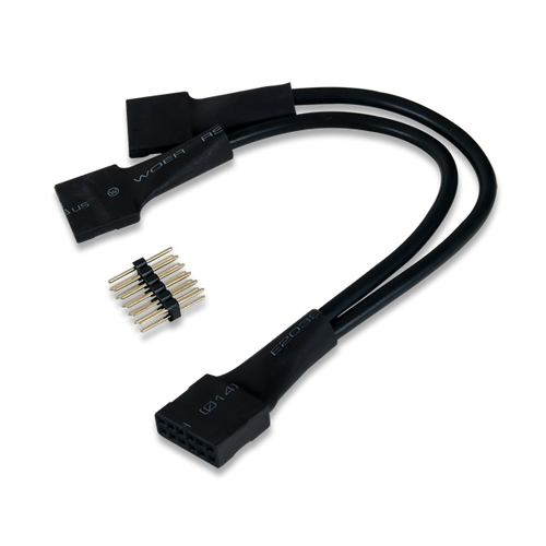 2x6 Pin to Dual 6 Pin Cable, oblique.