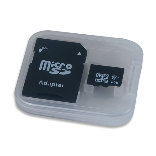 Micro SD Card with Adapter container.