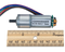product image of the DC Motor/Gearbox compared to a ruler.