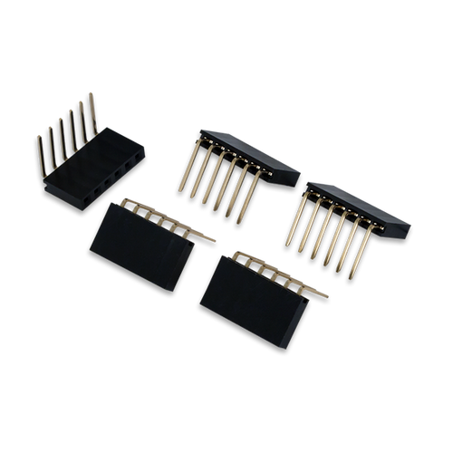 Pmod Female Right Angle 6-pin Header. Ships in a pack of 5.