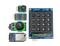 Top view product image of the Nexys Video Pmod Pack that includes the PmodJSTK2, PmodKYPD, PmodMAXSONAR, PmodTPH2, PmodWiFi.