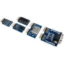 Zybo Z7 Academic Pmod Pack product image. Includes the Pmod VGA, Pmod SWT, Pmod 8LD, Pmod SSD, and Pmod AMP2.