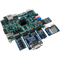 Product image of the Zybo Z7 Academic Pmod Pack displaying the ease of plugging the included Pmods into the Zybo Z7 FPGA. Includes the Pmod VGA, Pmod SWT, Pmod 8LD, Pmod SSD, and Pmod AMP2. Zybo Z7 sold separately.