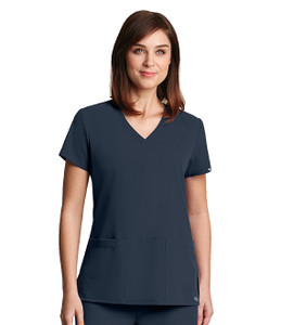 (2115) - Grey's Anatomy Signature Scrubs - 3 Pocket Lapover V-Neck