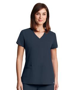 (2115) - Grey's Anatomy Signature Scrubs - 3 Pocket Lapover V-Neck