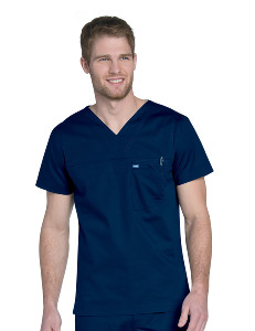 (4127) Landau RIPSTOP Scrubs - MEN'S V NECK TOP