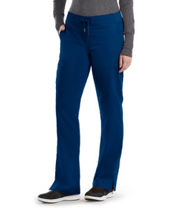 (4277T) - Grey's Anatomy Scrubs - 6 Pocket Tie Front Pant (Tall)