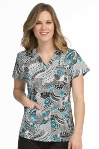 (4979-MEDA) Med Couture Scrubs - Valerie Top