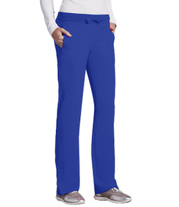 (5205P) - Barco One Scrubs - 4pkt Knit Waist Seamed Pant (Petite)