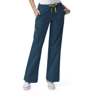 (5214P) WonderWink Four-Stretch Scrubs - Womens Sporty Cargo Pant (Petite)