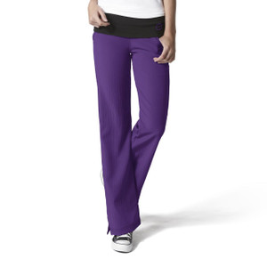 (5514P) WonderWink Four-Stretch Scrubs - Fold Over Knit Waist Pant (Petite)