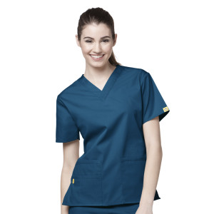 (6016) WonderWink Origins Scrubs - Womens Bravo V-Neck Top