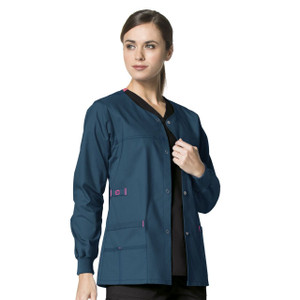 (8108) WonderFLEX Scrubs - Constance Snap Jacket