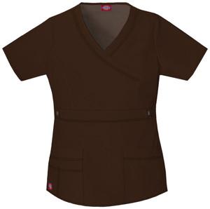 (817355) Dickies Gen Flex Scrubs - 817355 Mock Wrap Top