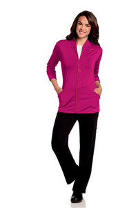 (9873) Urbane Ultimate Scrubs - KRISTEN KNIT ZIP FRONT JACKET