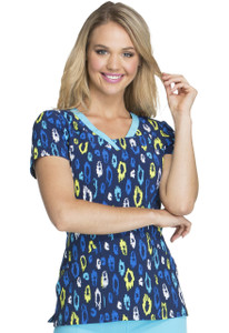 (HS600-JUWD) Heartsoul Fashion Prints Scrubs - HS600 V-Neck Top