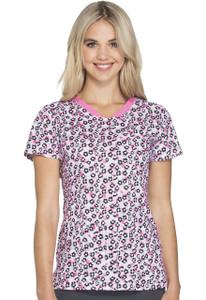 (HS601-MEMW) Heartsoul Fashion Prints Scrubs - HS601 V-Neck Top