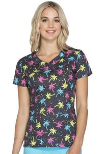 (HS602-VAVB) Heartsoul Fashion Prints Scrubs - HS602 Mock Wrap Top