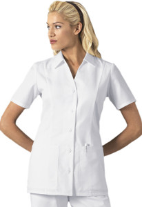 (2879) Cherokee Fashion Solids Scrubs - Button Front Top