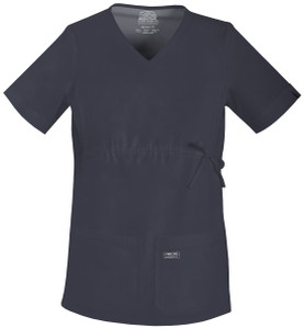 (4708) Cherokee Workwear Scrubs Core Stretch - Maternity V-Neck Knit Panel Top
