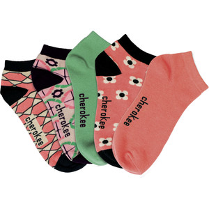 (PEACHYKEEN) Cherokee Footwear - PEACHYKEEN 6-5pr packs of No Show Socks