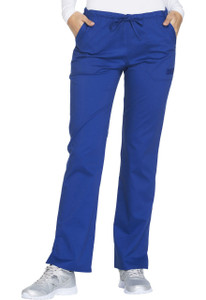 (WW130P) Cherokee Workwear Scrubs Core Stretch - WW130 Mid Rise Straight Leg Drawstring Pant (Petite)