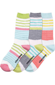 (STRIPESONSTRIP) Cherokee Footwear - STRIPESONSTRIP 1-3pr pack of Crew Socks