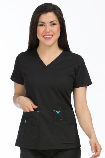 (8458) Med Couture Scrubs - Flex-It Top