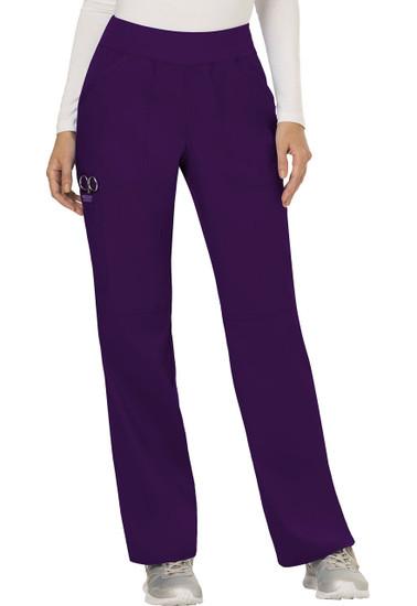 (WW110P) Cherokee Workwear Revolution Scrubs - WW110 Mid Rise Straight Leg Pull-on Pant (Petite)