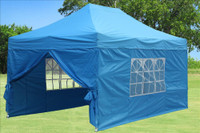 Sky Blue 10'x15' Pop up Tent with 4 Sidewalls - F Model Upgraded Frame