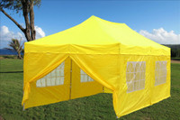 Yellow 10'x20' Pop up Tent with 4 Sidewalls - E Model