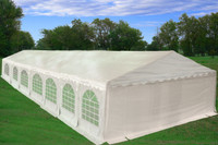 PE Party Tent 46'x20' - Heavy Duty Wedding Canopy - White