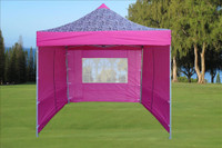 Pink Zebra 10'x10' Pop up Tent with 4 Sidewalls - F Model Upgraded  Frame