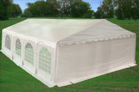 PE Party Tent 26'x20' with Waterproof Top - Heavy Duty Wedding Canopy - White