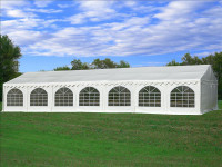 PVC Party Tent 46'x26' - Heavy Duty Party Tent - White