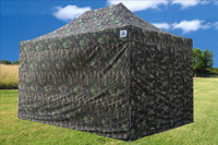 Camouflage 10'x15' Pop up Tent with 4 Sidewalls - F Model Upgraded  Frame