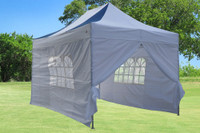 Navy Blue White 10'x15' Pop up Tent with 4 Sidewalls - F Model Upgraded Frame