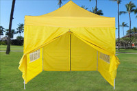 Yellow 10'x10' Pop up Tent with 4 Sidewalls - E Model