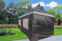 Black Checker 10'x20' Pop up Tent with 6 Sidewalls  - F Model Upgraded Frame