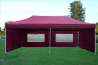Maroon 10'x20' Pop up Tent with 6 Sidewalls - E Model